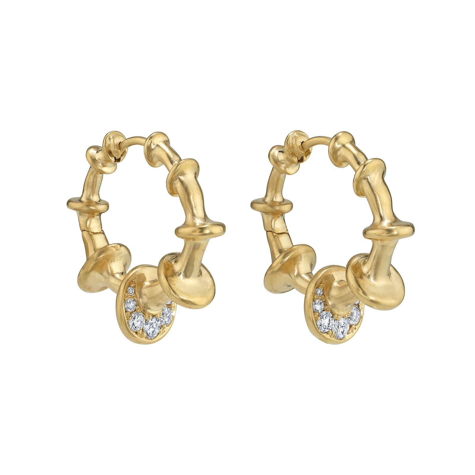 VRAM Chrona Hoops - Diamond - Earrings - Broken English Jewelry