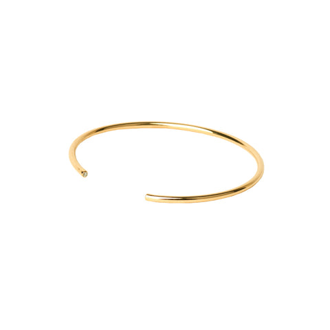 Gold Bangle with Diamonds - Rosa de la Cruz - Bracelets | Broken English Jewelry