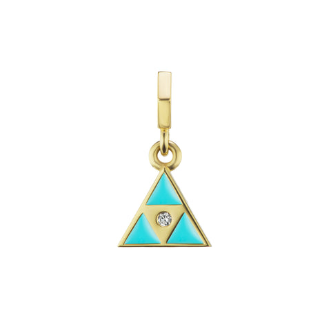 Blue Enamel Triangle Open Bale Charm