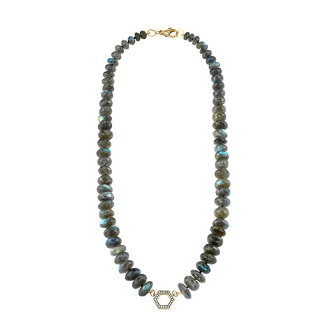 Chubby Labradorite Foundation Necklace