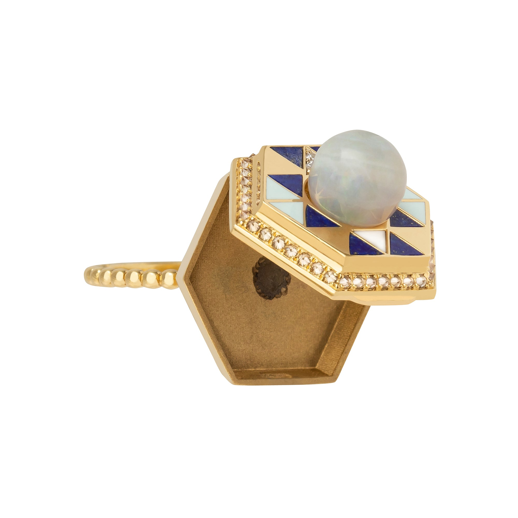 Tahitian Pearl Sera Water Poison Ring  - Harwell Godfrey - Rings | Broken English Jewelry