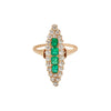 Shay Victorian Marquise Diamond & Emerald Ring - Rings - Broken English Jewelry