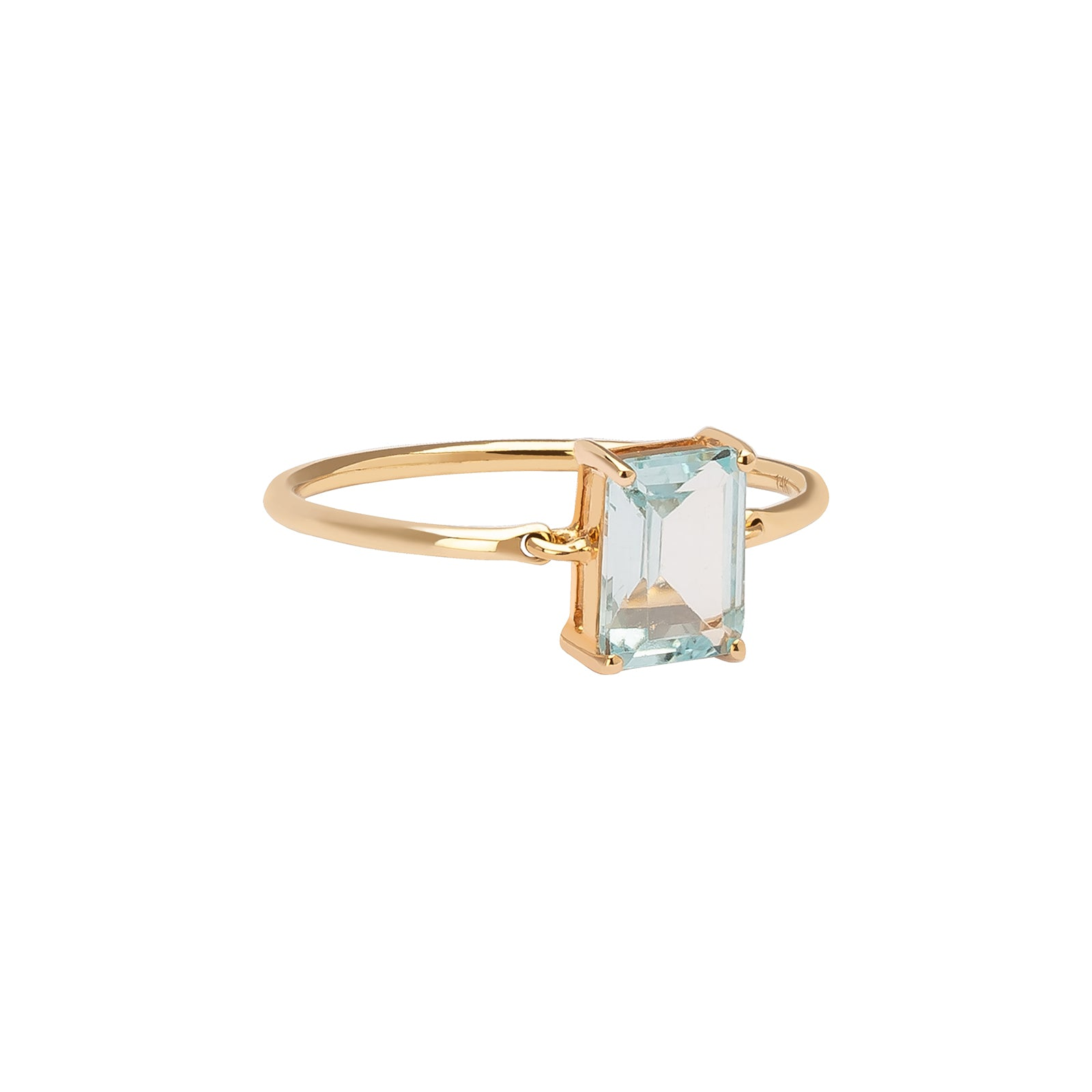 YI Collection Aquamarine Ice Ring - Rings - Broken English Jewelry