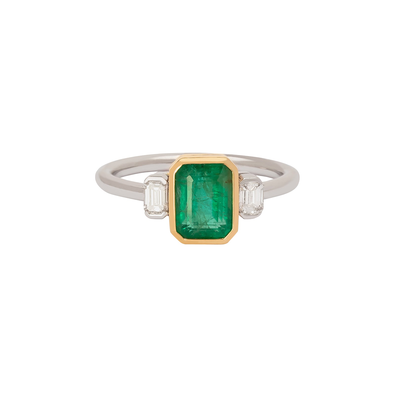 YI Collection Forever Mine Ring - Emerald & Diamond - Rings - Broken English Jewelry