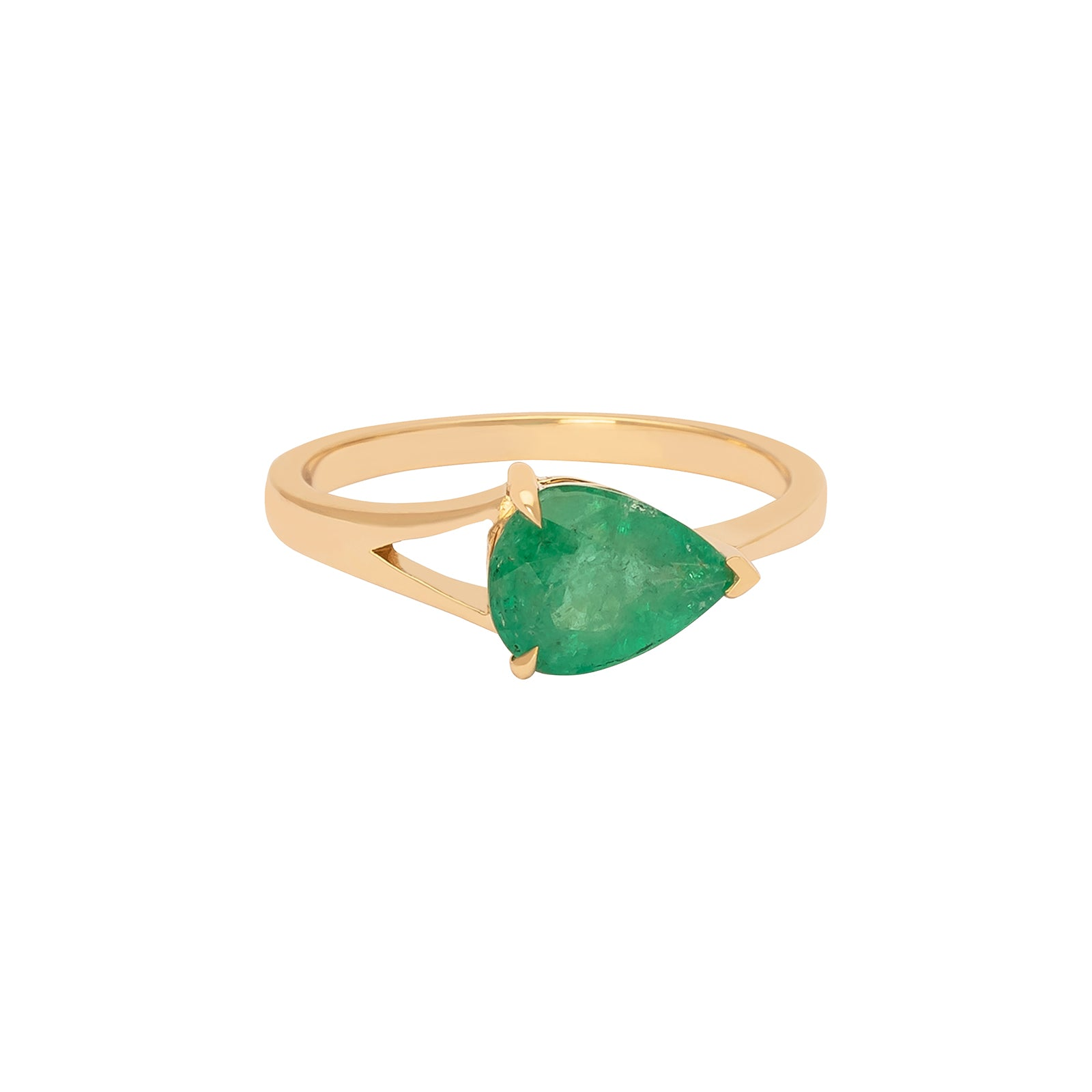 YI Collection Supreme Dewdrop Ring - Emerald - Rings - Broken English Jewelry