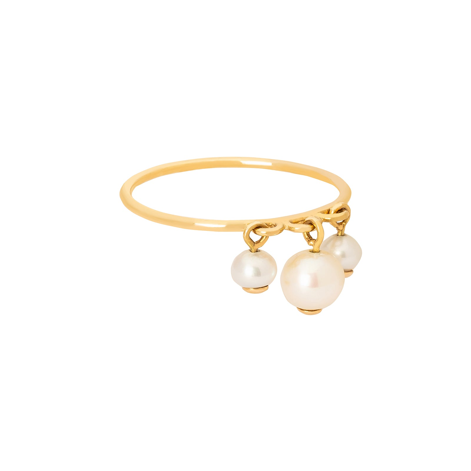 YI Collection Pearl Triplet Ring - Rings - Broken English Jewelry