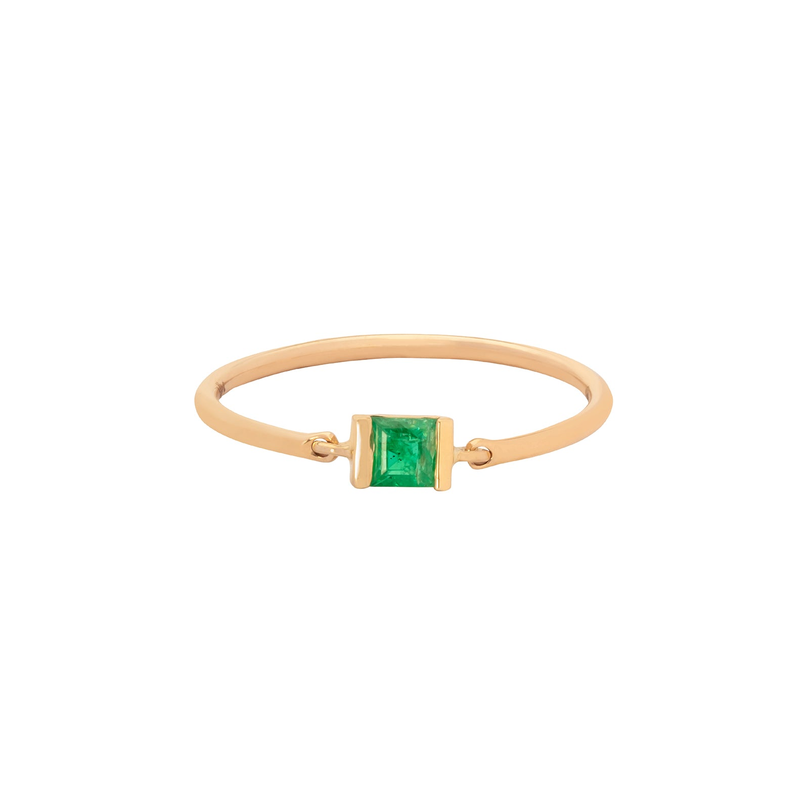 Emerald Petite Circle Ring - YI Collection - Rings | Broken English Jewelry