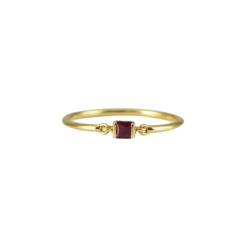 Ruby Petite Circle Ring