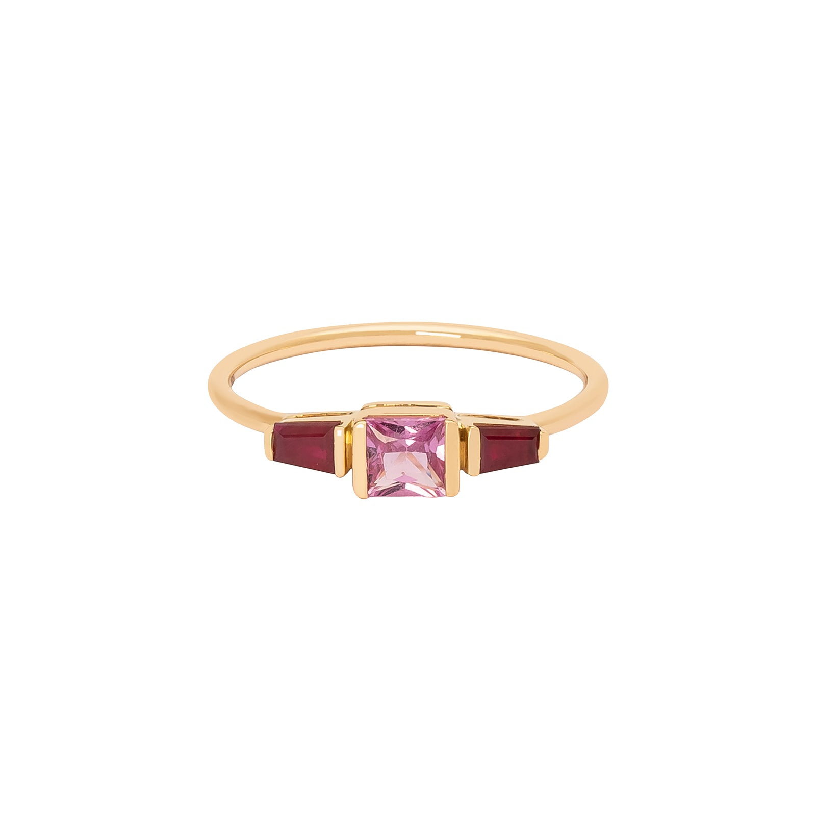 YI Collection Lacroix Ring - Pink Sapphire & Ruby - Rings - Broken English Jewelry