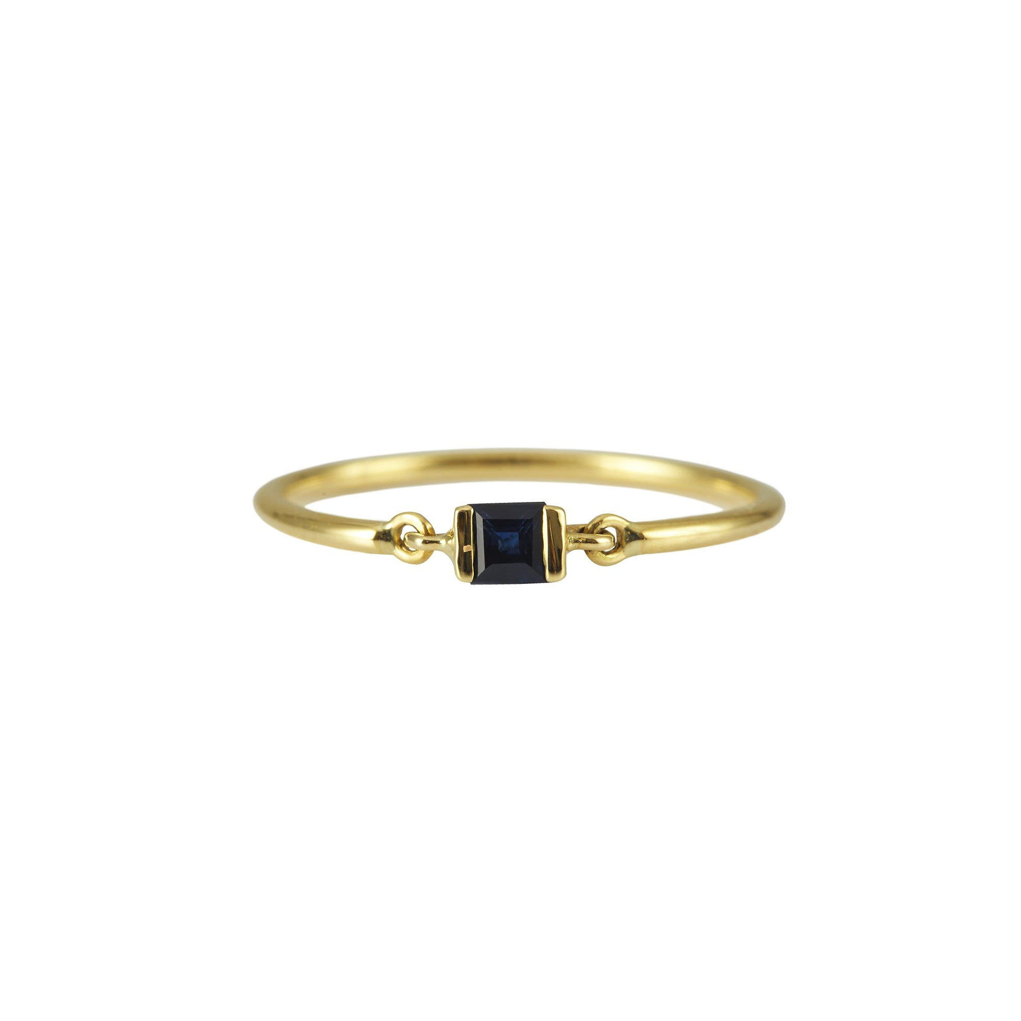 Royal Blue Sapphire Petite Circle Ring
