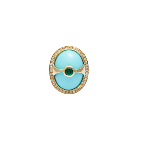 Turquoise $ Diamond Eos Ring