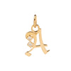 Foundrae Square Diamond A Charm - Charms & Pendants - Broken English Jewelry
