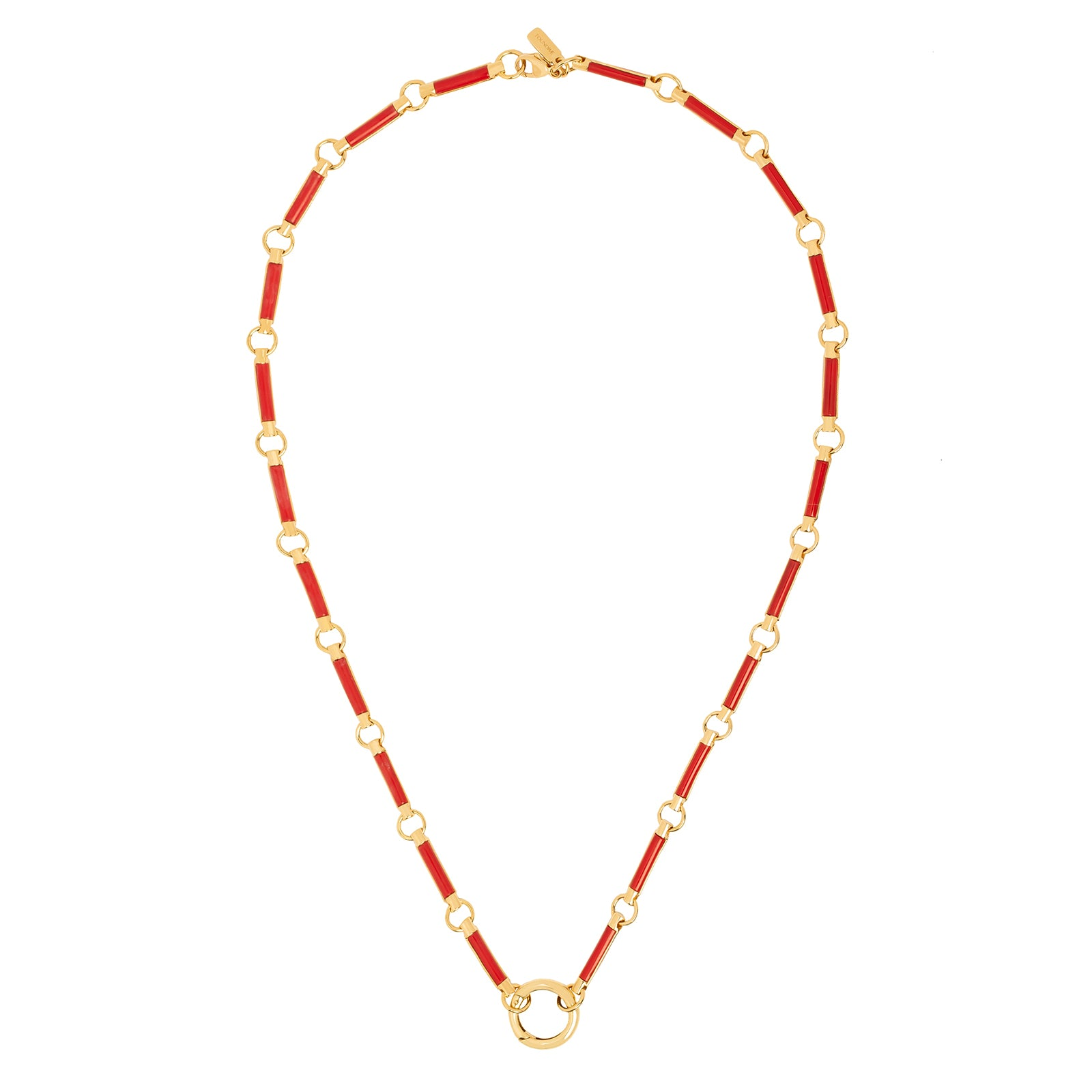 "Foundrae Element Stone Chain - Carnelian 16"" - Necklaces - Broken English Jewelry"