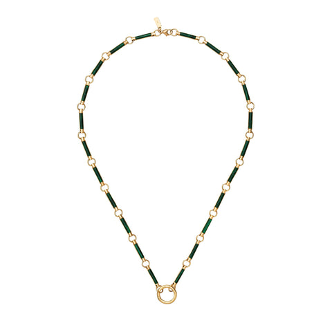 Malachite Element Stone Choker - Foundrae - Necklaces | Broken English Jewelry