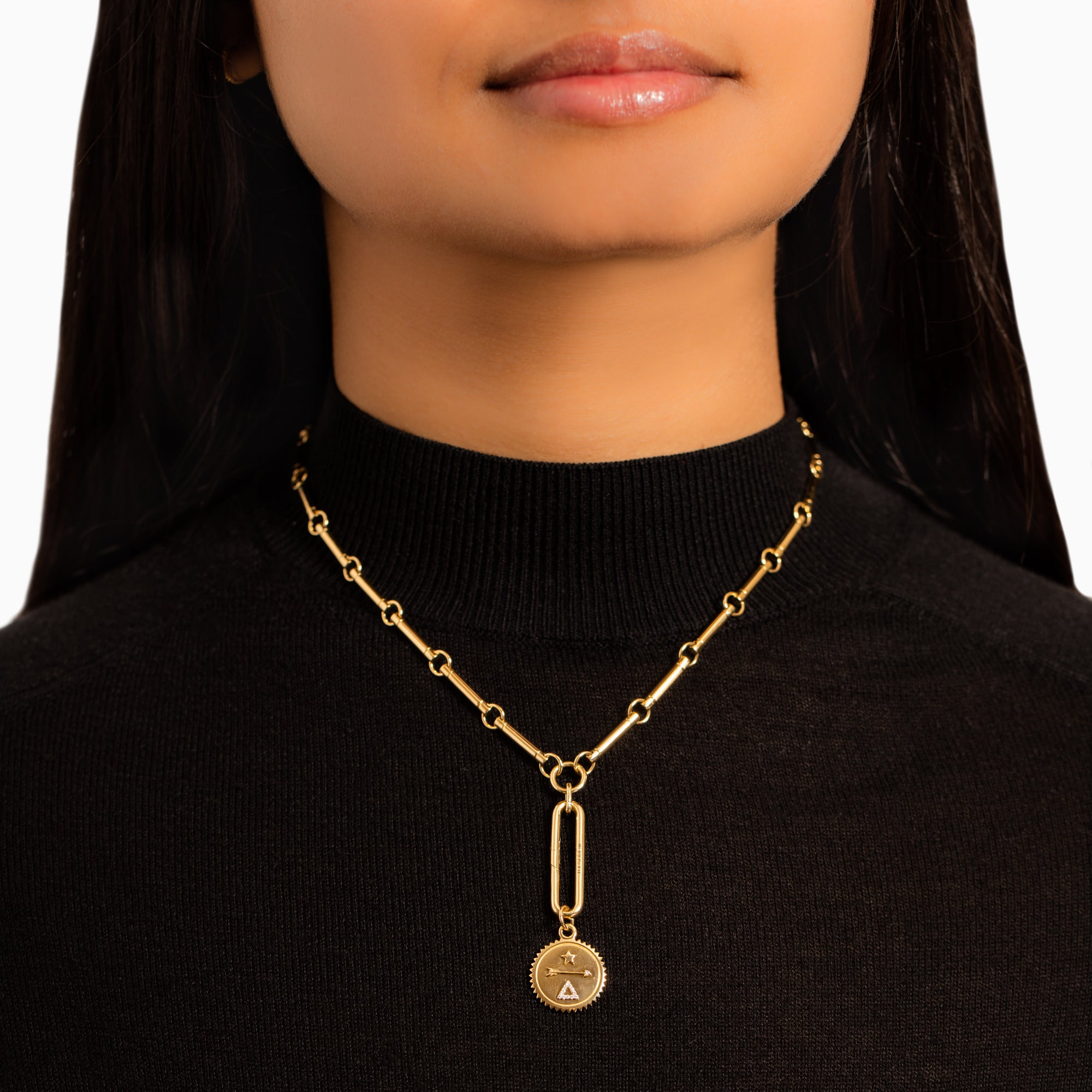 Foundrae Element Stone Choker with Oversized Clip - Gold - Necklaces - Broken English Jewelry