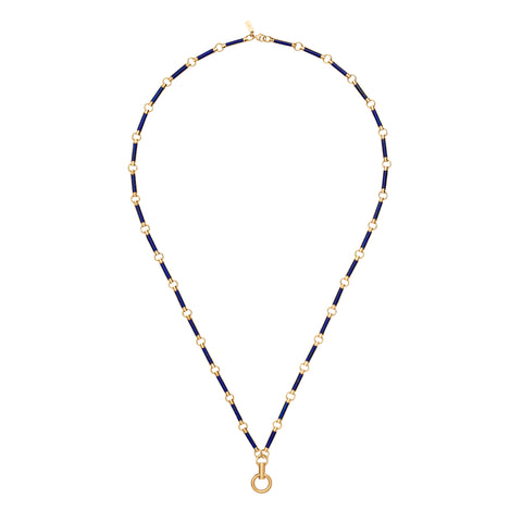 Lapis Lazuli Element Stone Chain - Foundrae - Necklaces | Broken English Jewelry