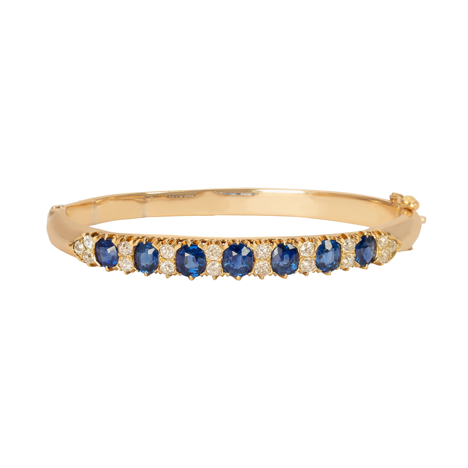 Jenna Blake Cuff Bracelet - Blue Sapphire - Bracelets - Broken English Jewelry