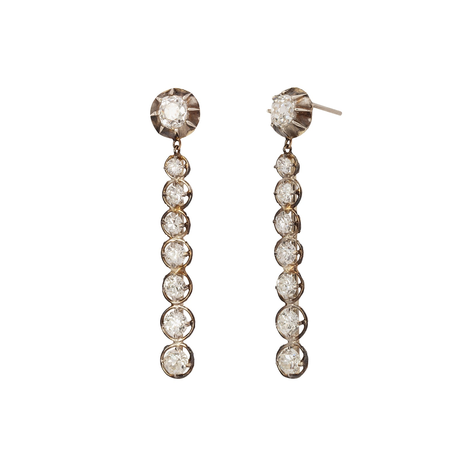 Jenna Blake Victorian Drop Diamond Earrings - Earrings - Broken English Jewelry