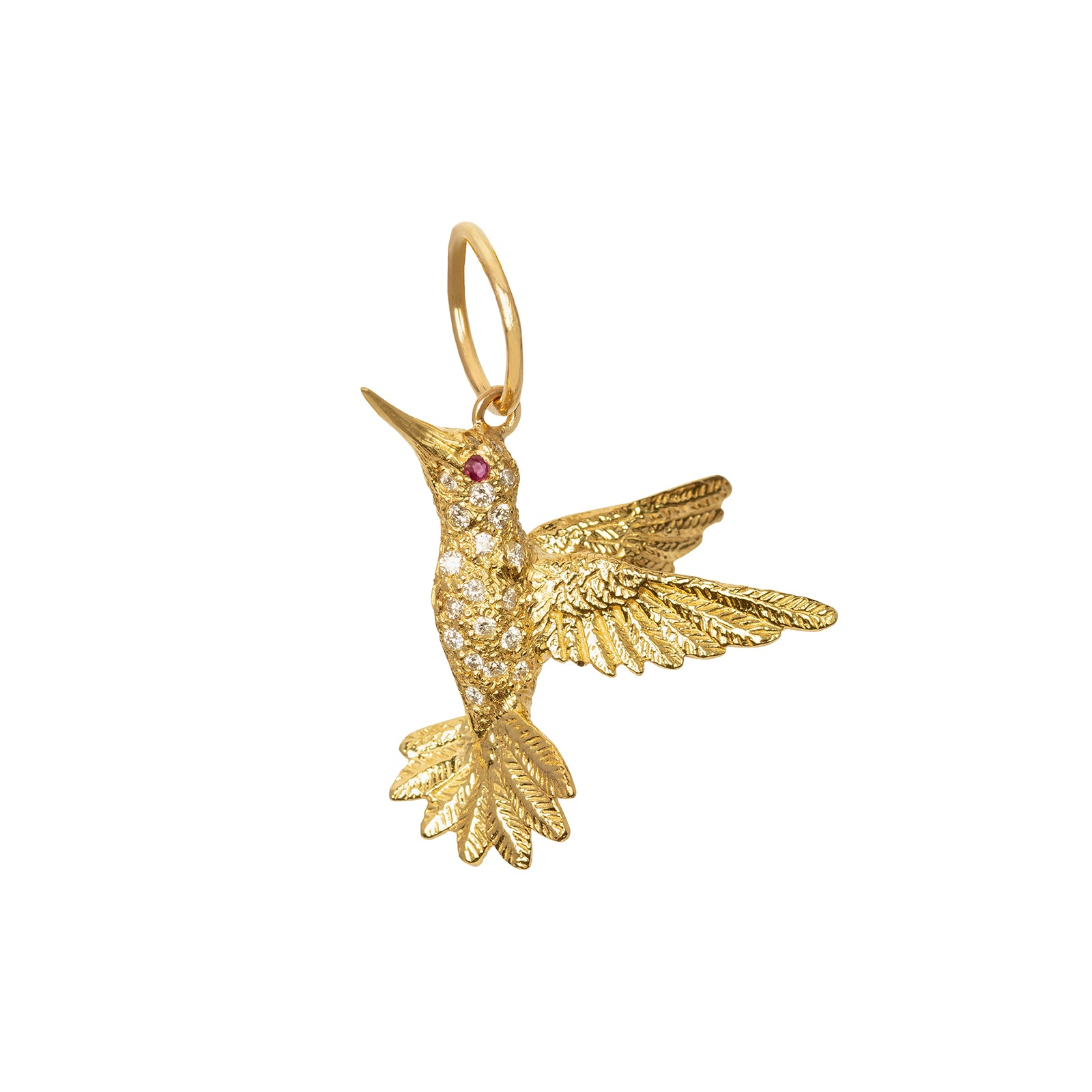 Jenna Blake Hummingbird Pendant - Charms & Pendants - Broken English Jewelry