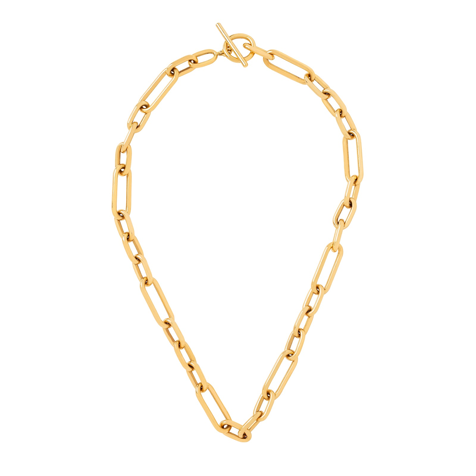 Jenna Blake Oversized Toggle Clasp Chain Necklace - Necklaces - Broken English Jewelry