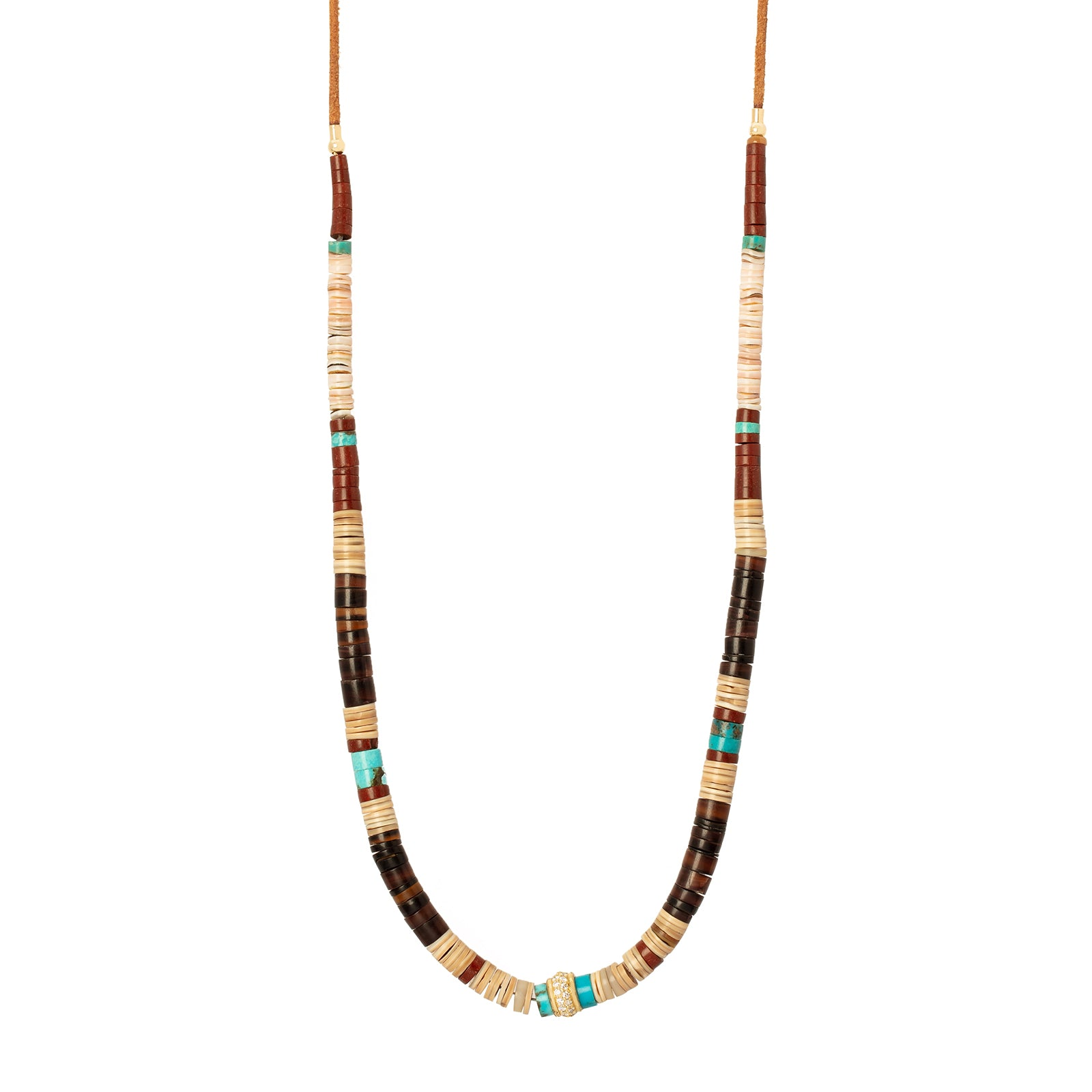 Jenna Blake Multi Color Wooden Bead Necklace - Necklaces - Broken English Jewelry
