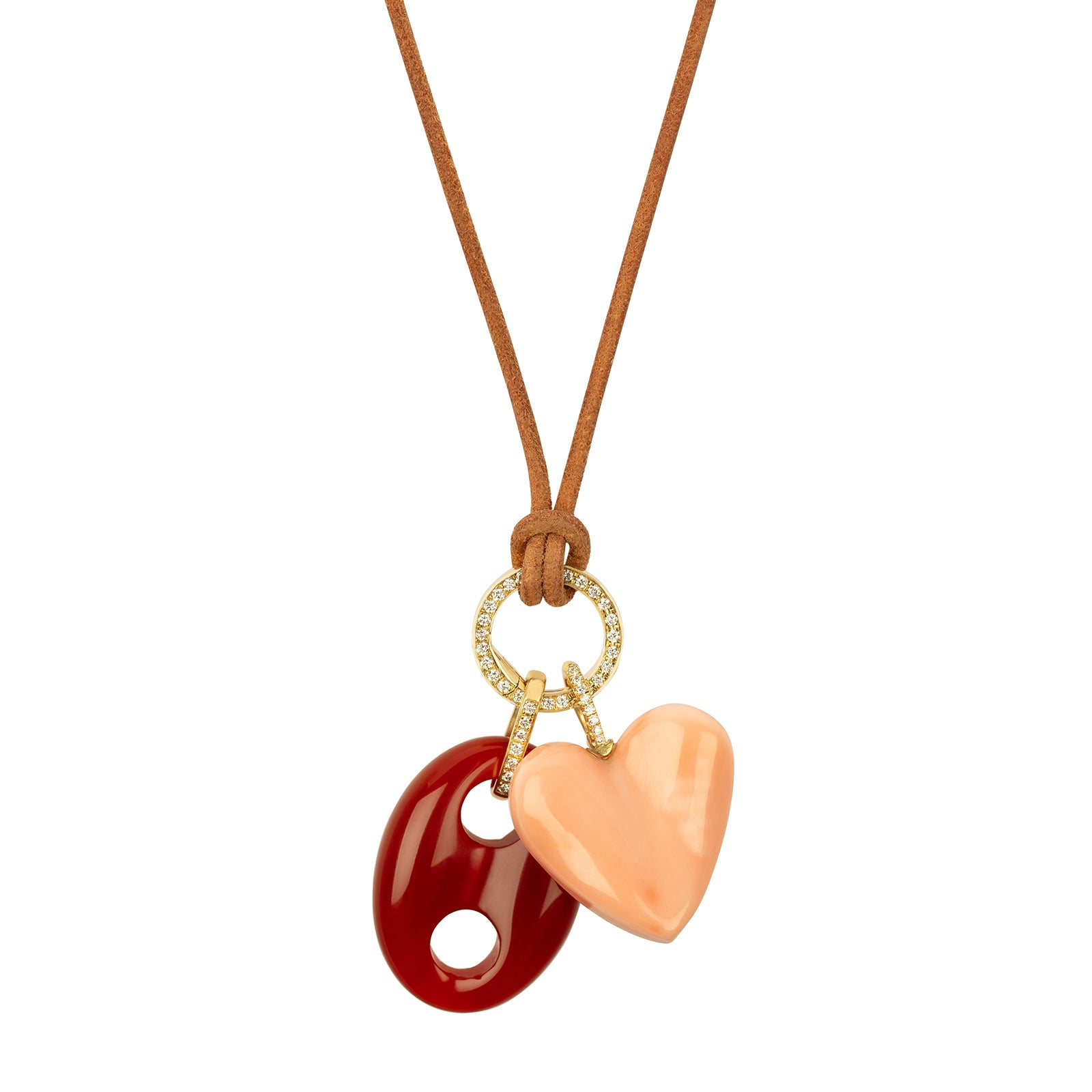 Jenna Blake Angel Skin Coral Heart Pendant - Charms & Pendants - Broken English Jewelry
