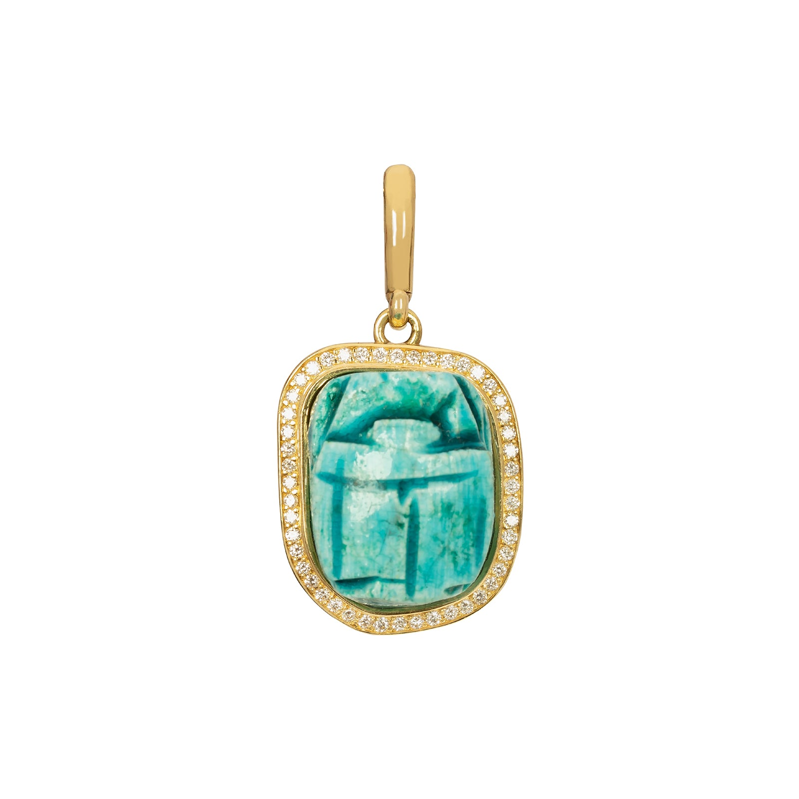 Jenna Blake Turquoise Scarab Pendant - Charms & Pendants - Broken English Jewelry