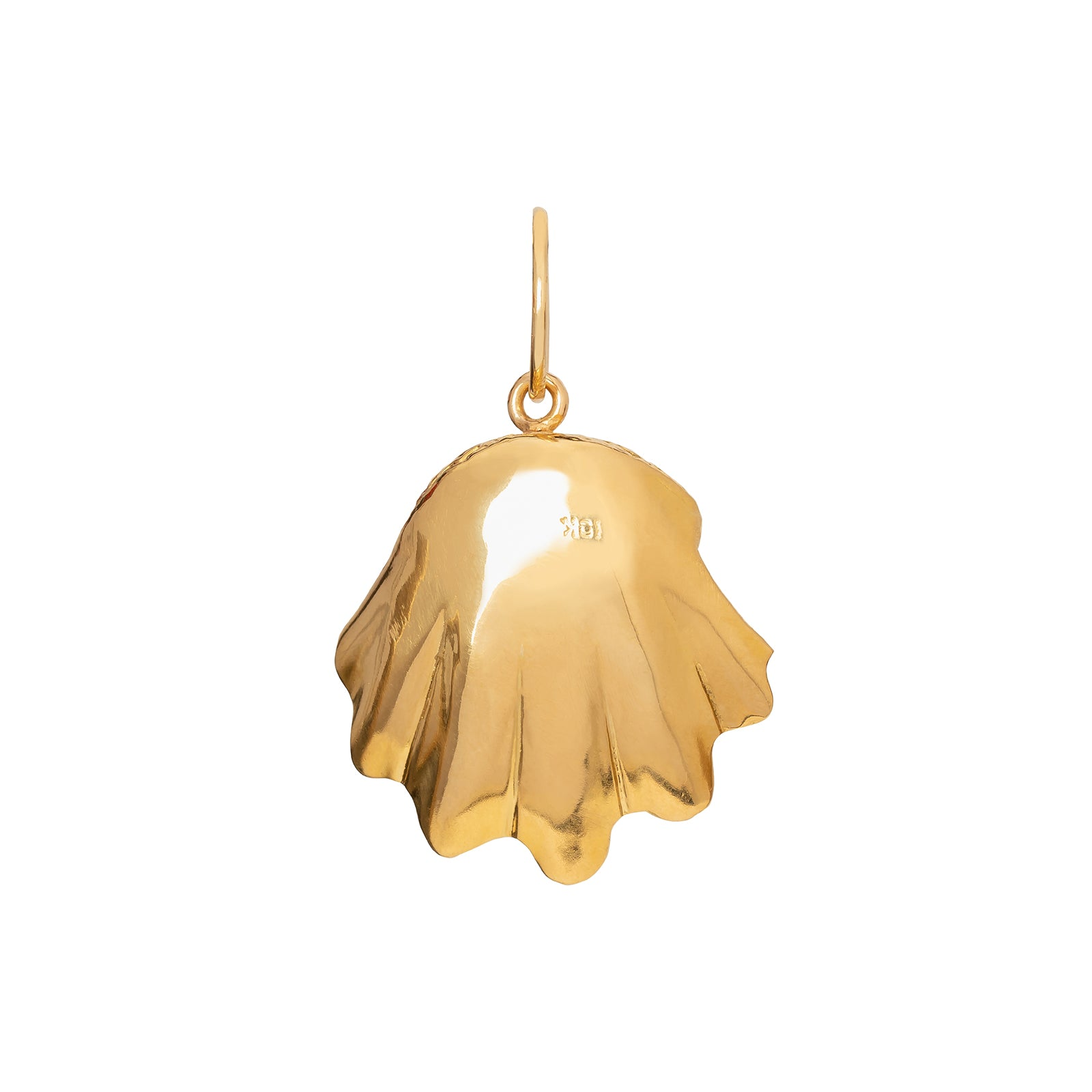 Jenna Blake Gold Clam Shell Pendant - Charms & Pendants - Broken English Jewelry