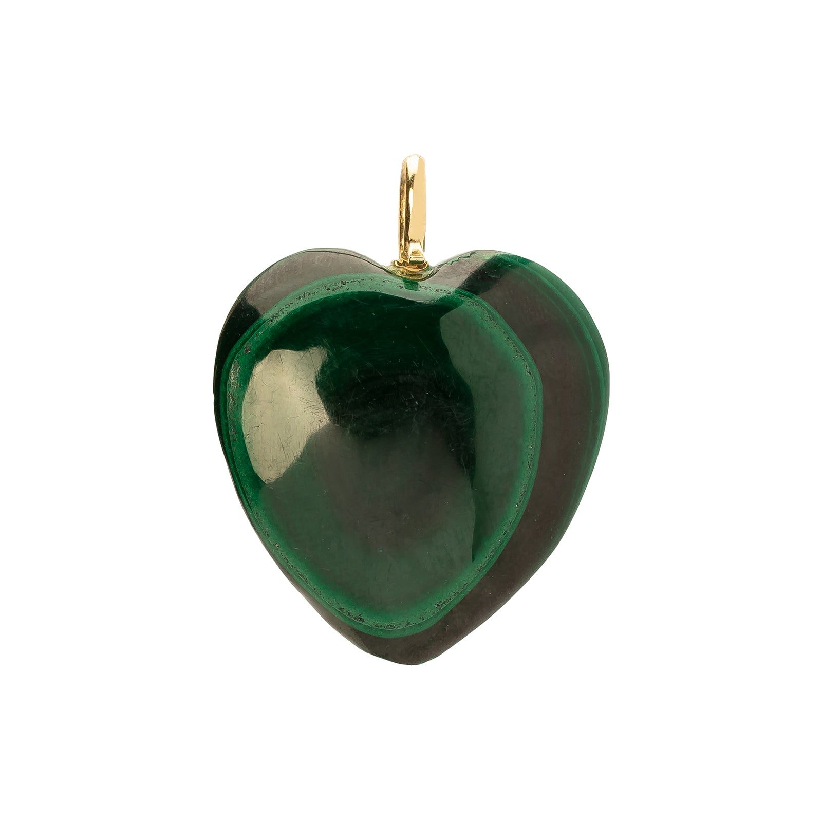 Jenna Blake Malachite Heart Pendant - Large - Charms & Pendants - Broken English Jewelry