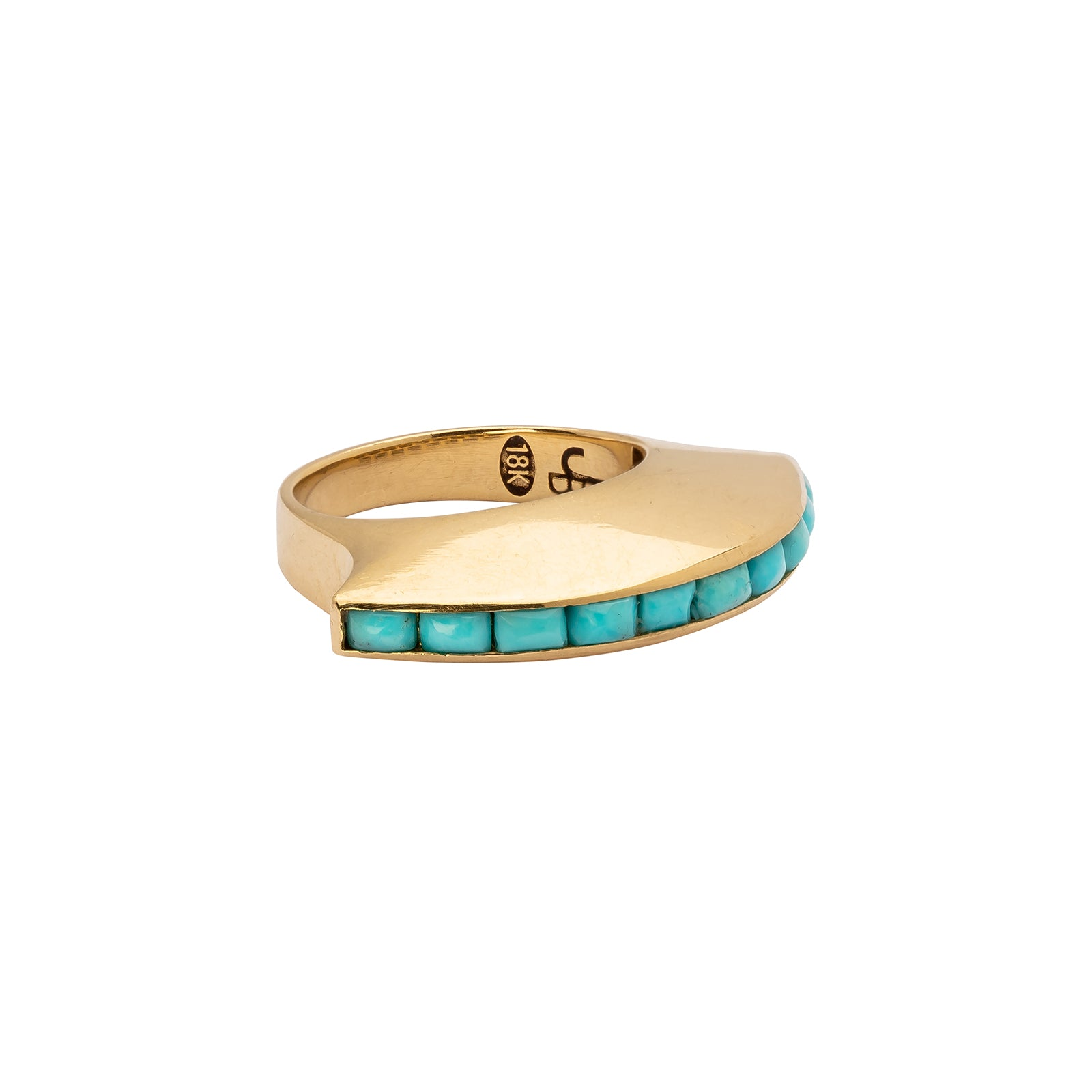 Jenna Blake Eclipse Ring - Turquoise - Rings - Broken English Jewelry