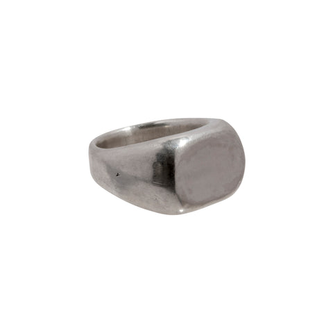 Silver Large Concave Ring by James Colarusso for Broken English Jewelry