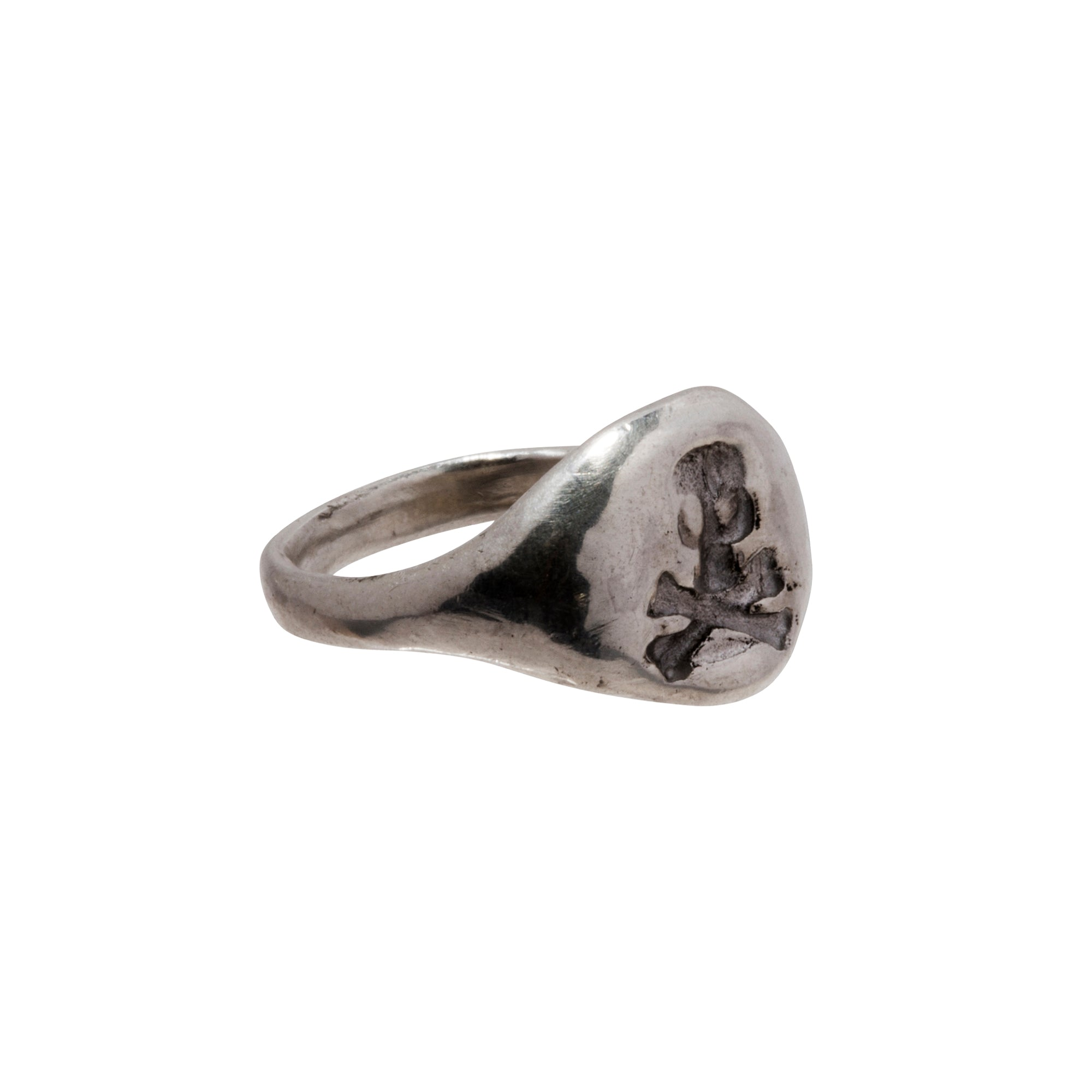 Silver Skull Ring by James Colarusso for Broken English Jewelry