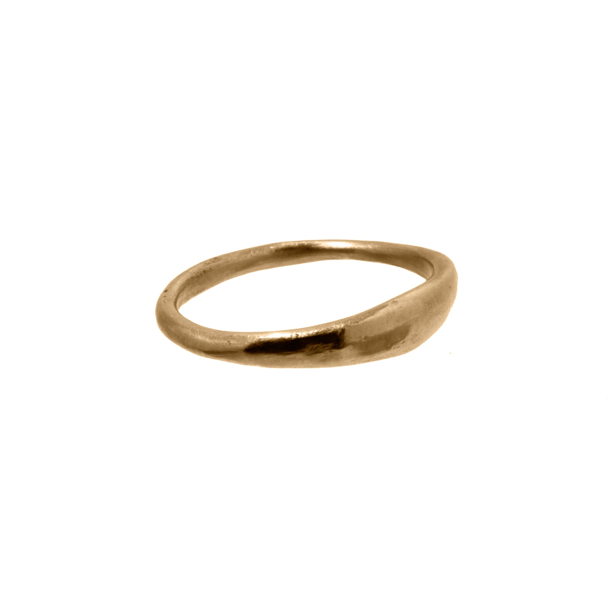 Small Gold Stacking Ring by James Colarusso for Broken English Jewelry