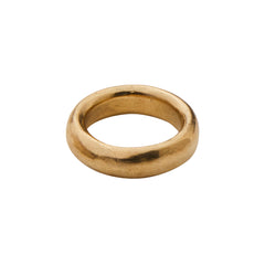 Gold Donut Ring by James Colarusso for Broken English Jewelry