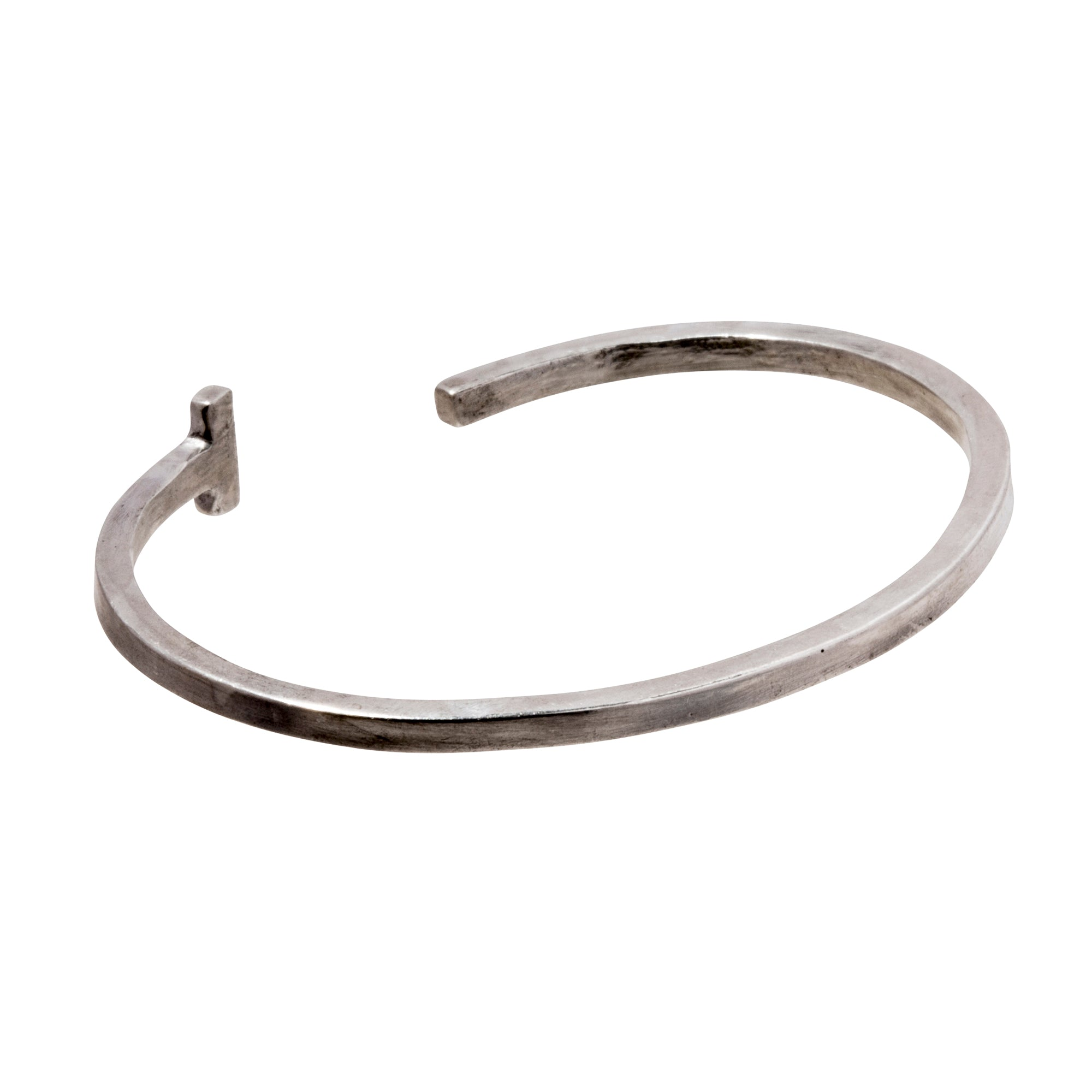 Silver Square T Cuff by James Colarusso for Broken English Jewelry
