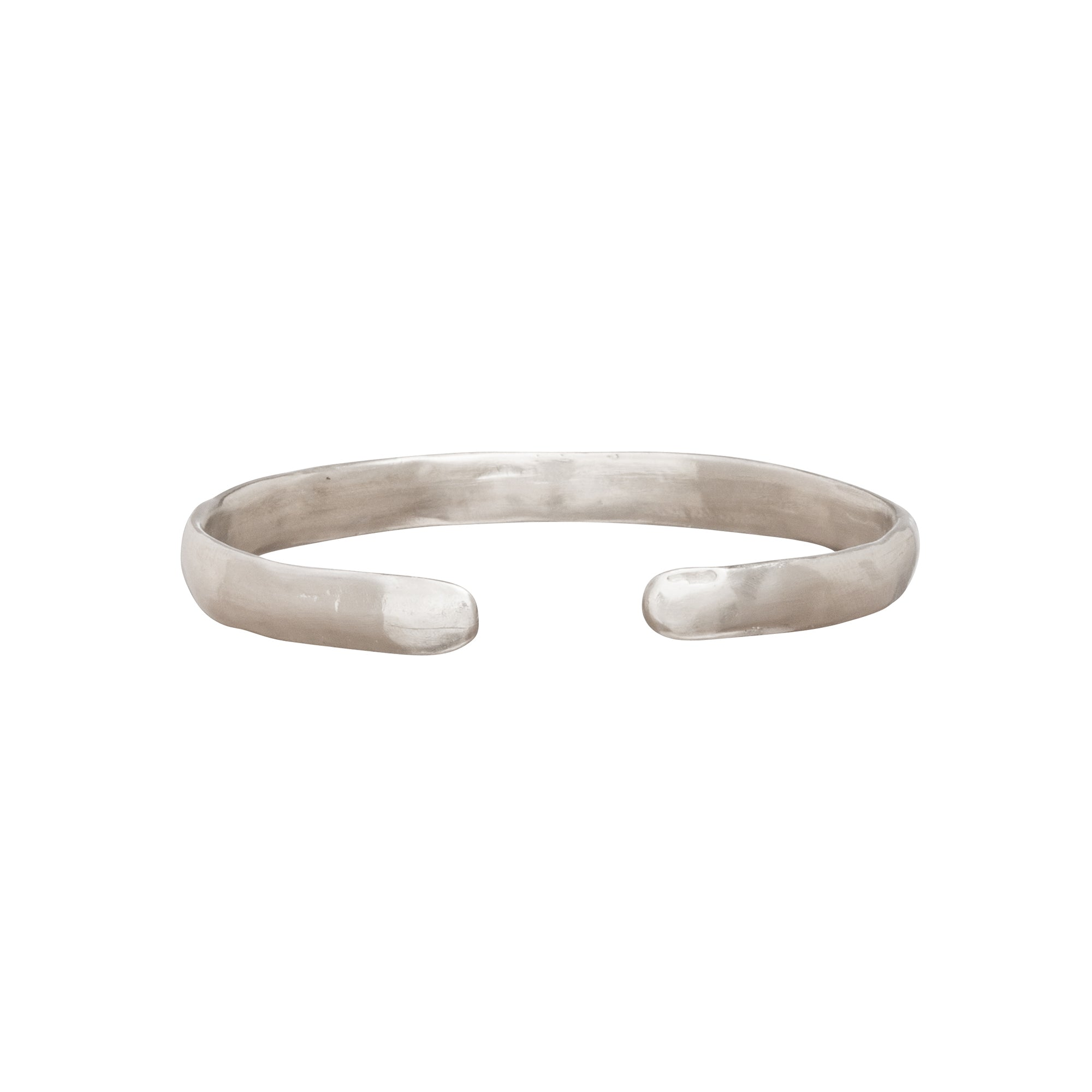 Large Silver Bangle by James Colarusso for Broken English Jewelry