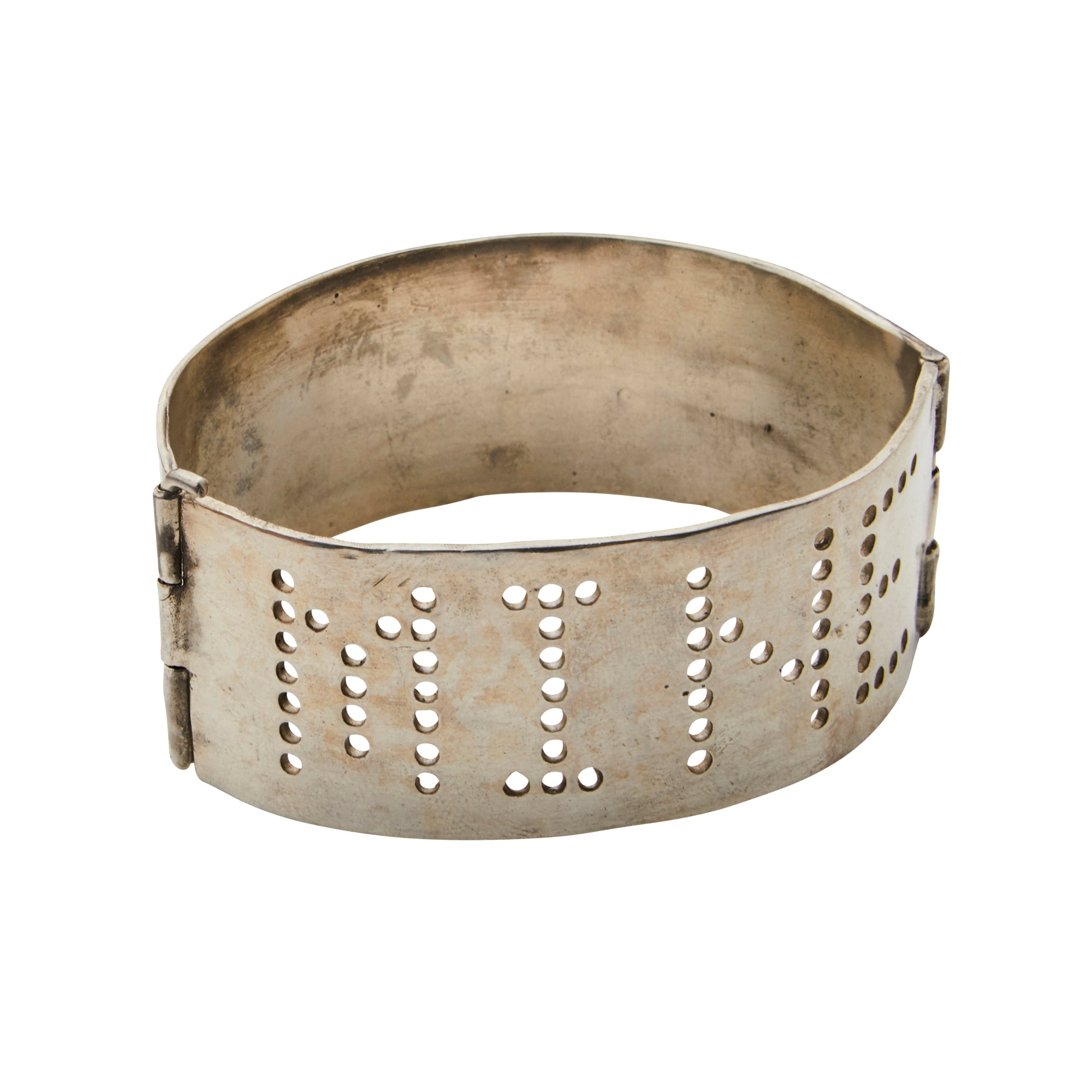 Silver Mine Cuff by James Colarusso for Broken English Jewelry