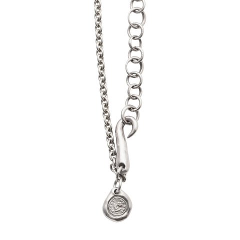 Silver Forget Me Not Necklace by James Colarusso for Broken English Jewelry