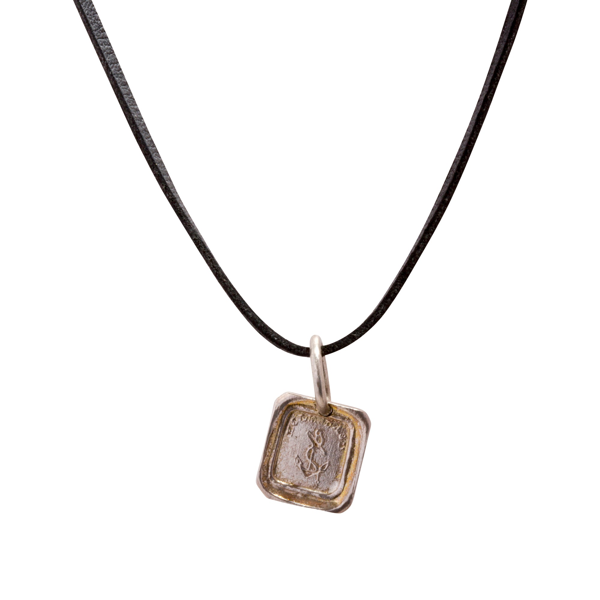 Silver Hold Fast Pendant by James Colarusso for Broken English Jewelry