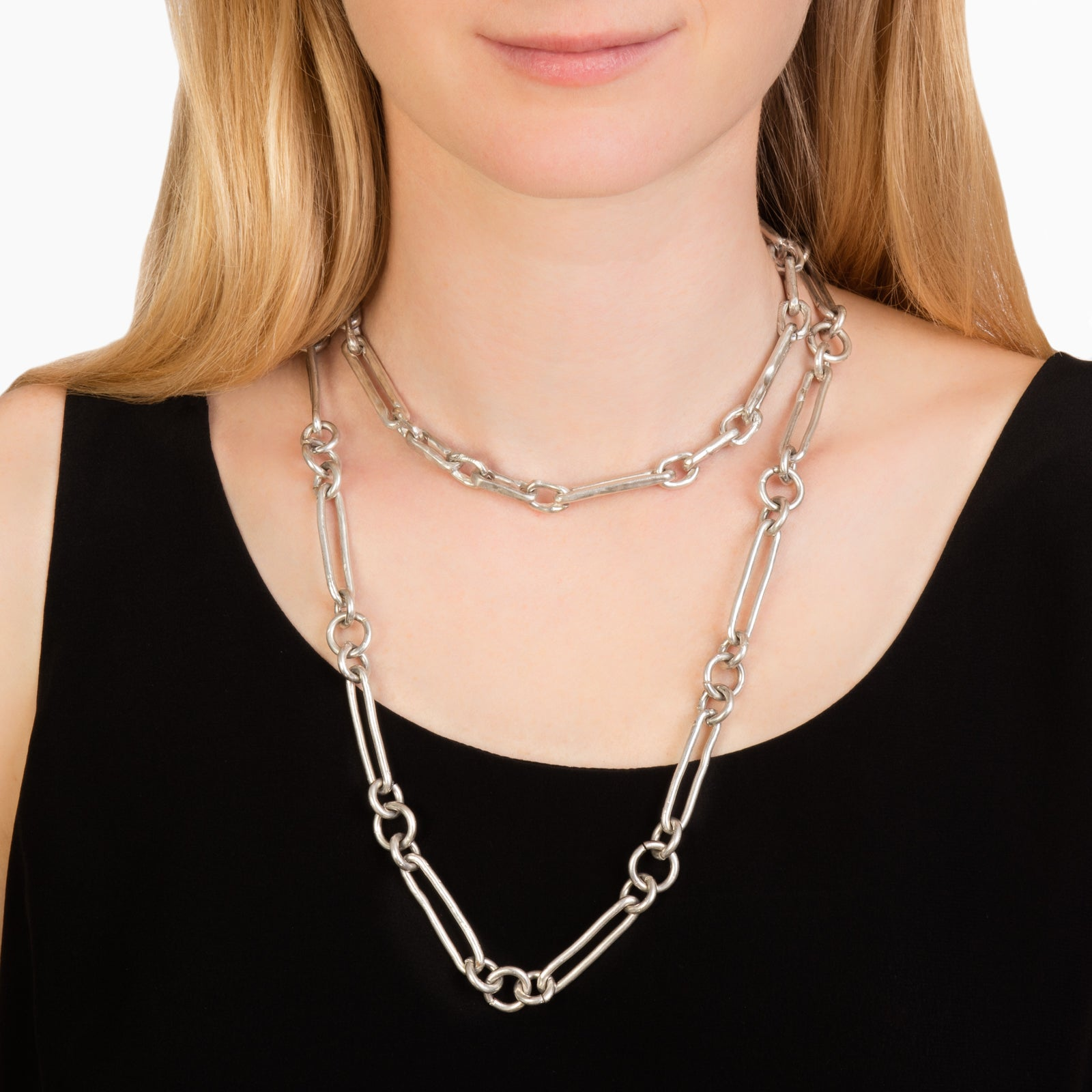 James Colarusso Alternating Link Chain - Silver - Necklaces - Broken English Jewelry