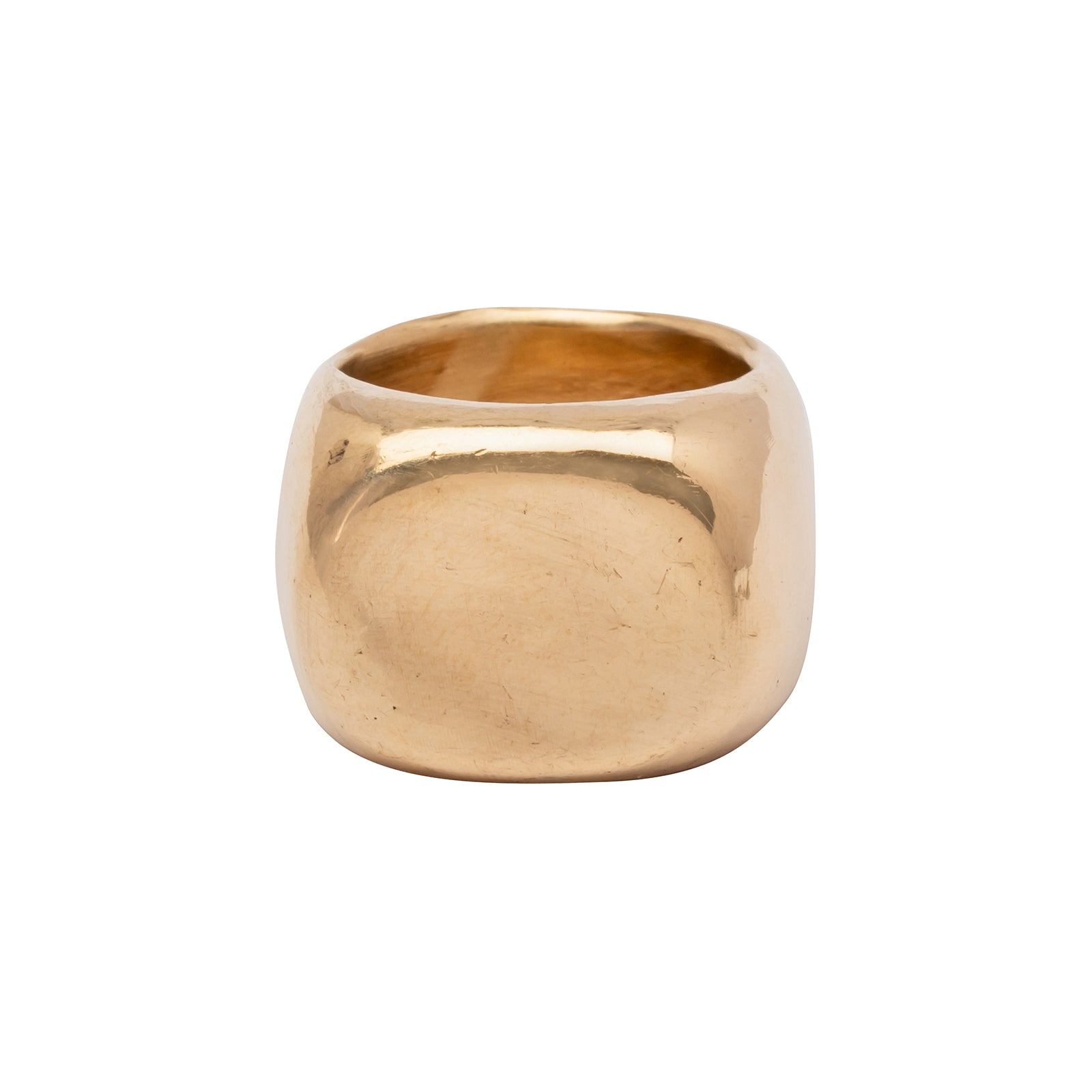 James Colarusso Large Concave Ring - Gold - Rings - Broken English Jewelry