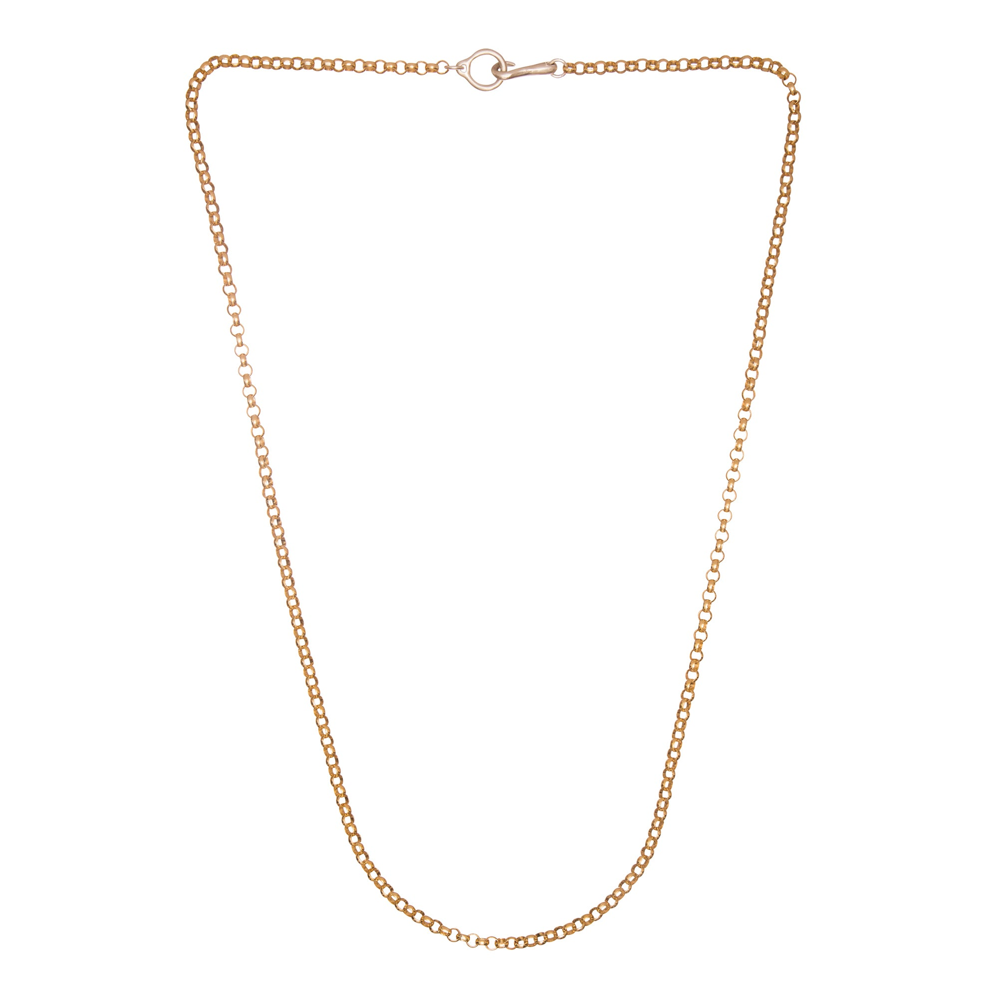 Gold Rolo Hook & Eye Chain by James Colarusso for Broken English Jewelry