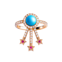 Turquoise Alcylone Ring by Jenny Dee for Broken English Jewelry