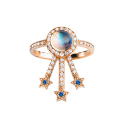 Moonstone Alcylone Ring by Jenny Dee for Broken English Jewelry