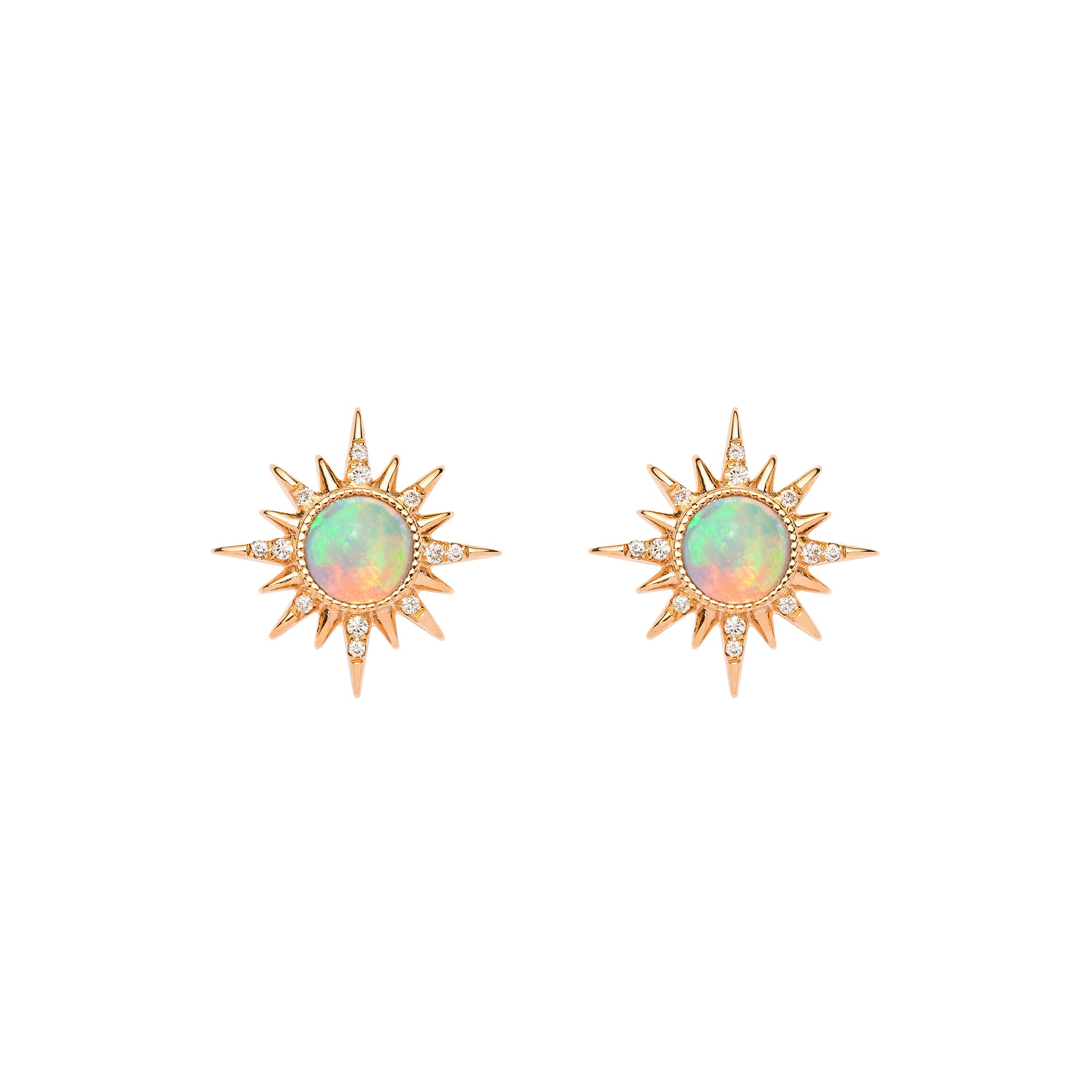 Opal Electra Earrings by Jenny Dee for Broken English Jewelry