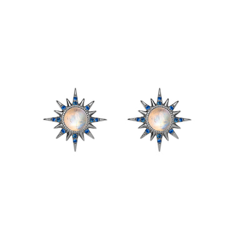 Moonstone Electra Earrings by Jenny Dee for Broken English Jewelry