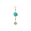 Turquoise Electra Ear Sphere by Jenny Dee for Broken English Jewelry
