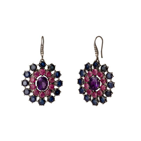 Amethyst Empress Disc Earrings - Holly Dyment - Earrings | Broken English Jewelry