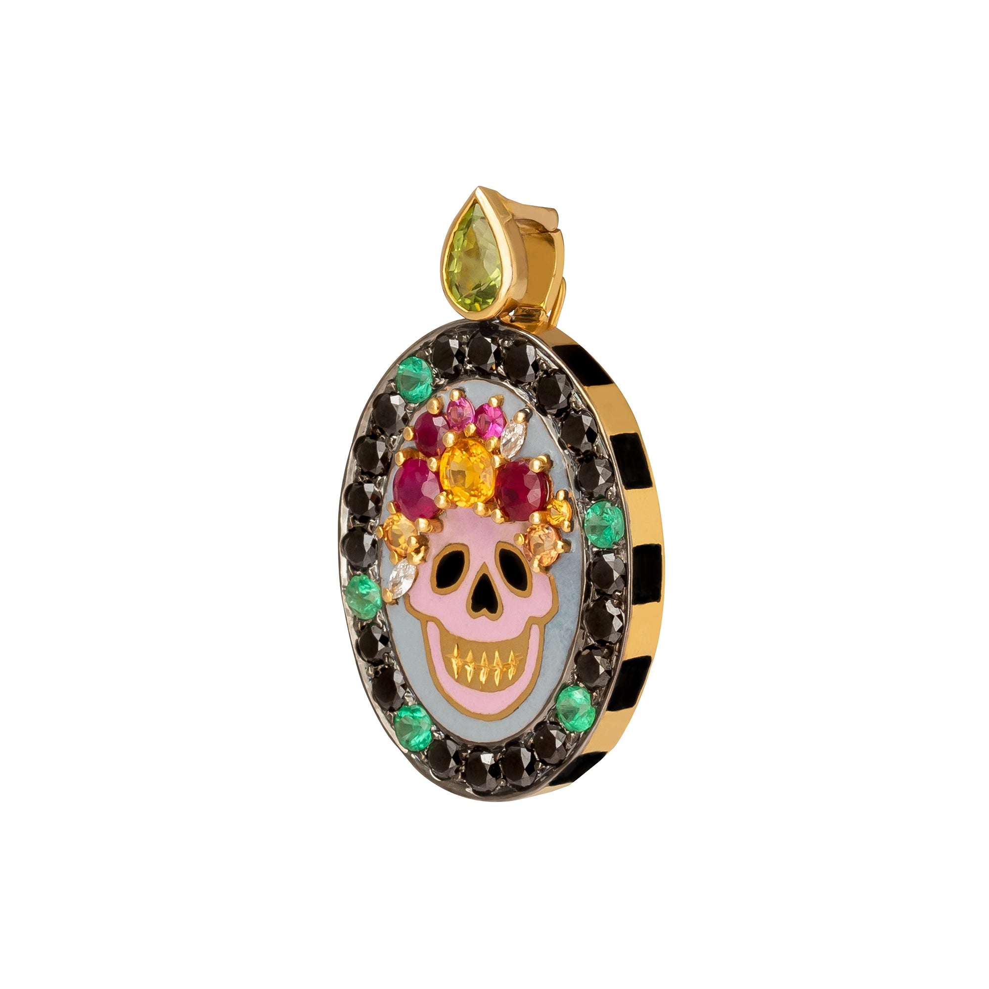 Skull Enamel Large Pendant - Holly Dyment - Charms & Pendants | Broken English Jewelry