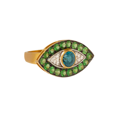 Peridot Evil Eye Ring  - Holly Dyment - Rings | Broken English Jewelry
